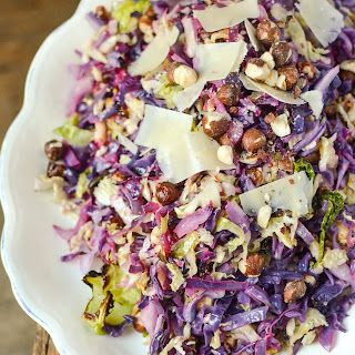 Roasted Cabbage Slaw with Hazelnuts & Lemon
