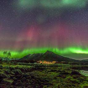 Aurora outburst by Benny Høynes - Landscapes Weather ( water, clouds, stars, northern lights, aurora borealis, norway )