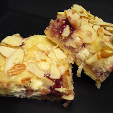 Cherry-Filled White Chocolate Blondies