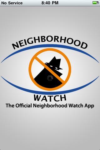 Neighborhood Watch Mobile App