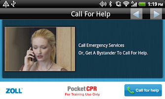 Screenshot of ZOLL PocketCPR