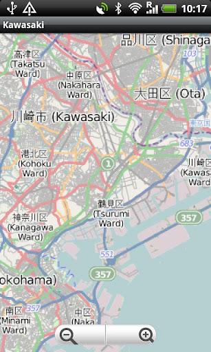 Kawasaki Street Map