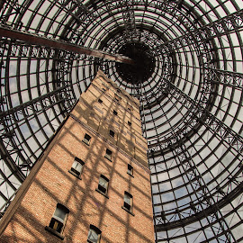 Under Cover by Tobias Weller - Buildings & Architecture Public & Historical ( roof, tower, melbourne, brick, australia, glass, victoria, architecture )