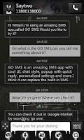Screenshot of GO SMS Pro Thief Theme