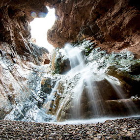 Secret Places by Andrew Hale - Landscapes Caves & Formations ( hidden, arizona, waterfall, canyon, long exposure )