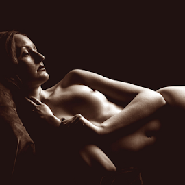 Vintage nude by Paul Phull - Nudes & Boudoir Artistic Nude ( pose, body, nude, vintage, artistic nude, shadows )