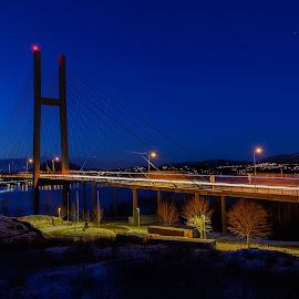 The Bridge by Knut Saglien - Buildings & Architecture Bridges & Suspended Structures ( bergen, shuttertime, long shuttertime, norway,  )