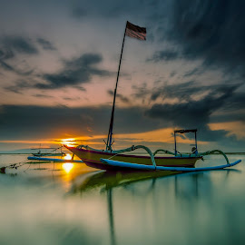 Personalized by Ade Irgha - Transportation Boats ( bali, boats, explorebali, seascape, sunrise )