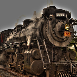 HDR Train by Keith Wood - Transportation Trains ( kewphoto, hdr, poconos, train, keith wood )