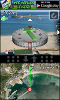 Screenshot of AR GPS Compass Map 3D