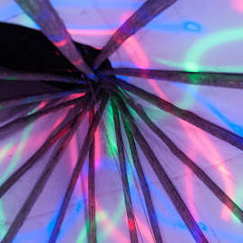 Plains Native Tipi with Disco Lighting by Clint Whitmer - Buildings & Architecture Other Interior ( pow-wow, skylight, architecture, tipi, native american, Architecture, Ceilings, Ceiling, Buildings, Building )