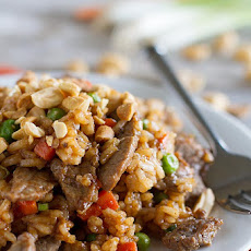 Asian Rice and Beef Stir Fry