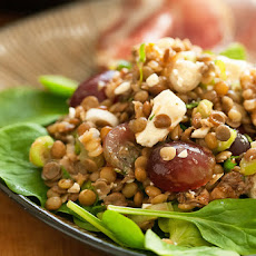 Lentil Salad with Grapes and Feta