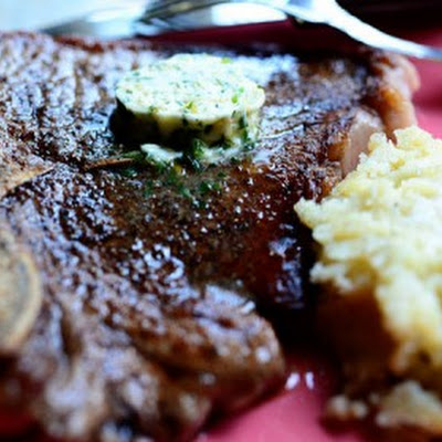 T-Bone Steaks with Hotel Butter