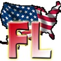 USA Florida clock flag icon