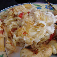 Baked Orzo With Peppers and Cheese