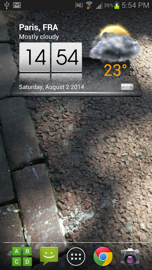 3D Sense Clock & Weather Screenshot 0