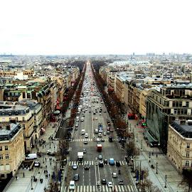 Paris. by Sabrina Raso - City,  Street & Park  Street Scenes