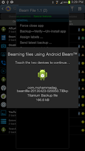 File Beam (Touch to Send) Screenshot