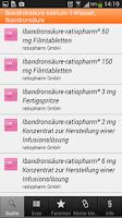 Screenshot of ratiopharm Arzneimittel App