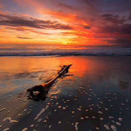 dusk remain by Budi Astawa - Landscapes Sunsets & Sunrises ( bali, sunset, pekutatan, jembrana, dusk )