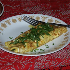 Shrimp and Spinach Omelet