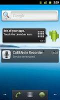 Screenshot of Call&Note Recorder Mailer PRO