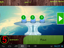 Screenshot of Three thimble