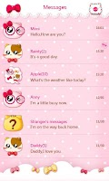 Screenshot of GO SMS PRO PINKYCAT THEME