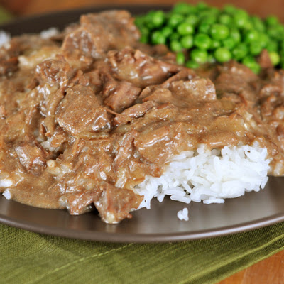 Ultimate Beef Stroganoff {Slow Cooker}