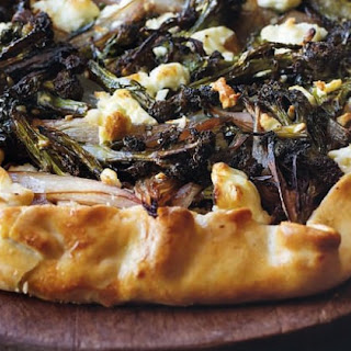 Caramelised Broccoli And Shallot Tart With Feta