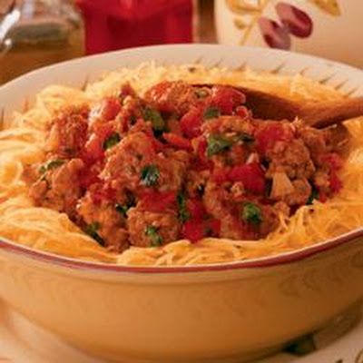 Sausage, Peppers and Spaghetti Squash