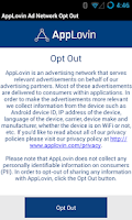 Screenshot of AppLovin Ad Network Opt-Out