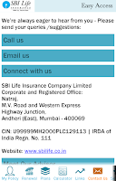 Screenshot of SBI Life Easy Access