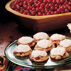 Frosted Cranberry Drop Cookies