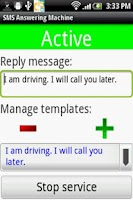 Screenshot of SMS (Text) Answering Machine