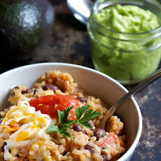 Mexican Quinoa with Lazy Guacamole