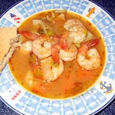 Hot-and-Sour Prawn Soup with Lemon Grass