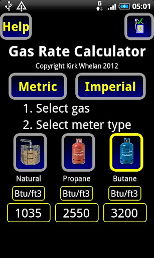 gas rate cost calculator