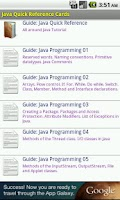 Screenshot of Java Quick Reference Cards