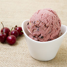 Roasted Cherry Chocolate-Almond Ice Cream