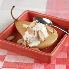 Caramelized Pears with Spiced Ice Cream