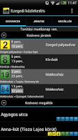 Screenshot of Szegedi közlekedés