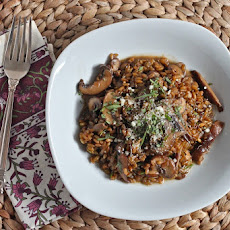 Freekeh Risotto with Mushrooms & Tarragon