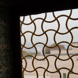 Harem Window by Donald Henninger - Abstract Patterns ( pattern, grill, window, sony alpha, turkey, istanbul, palace )
