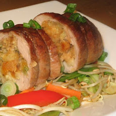Asian Style Stuffed Pork Loin