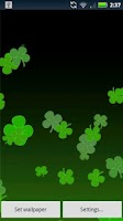 Screenshot of Live Wallpaper Shamrocks