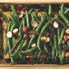 Green Beans with Blackened Sage and Hazelnuts