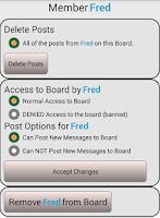 Screenshot of Group Bulletin Board