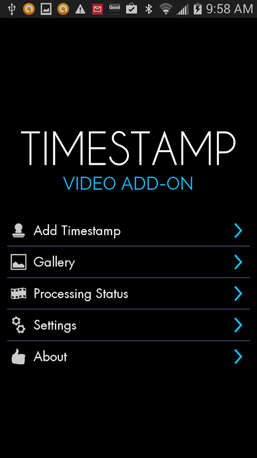 Video Timestamp Add-on Screenshot 0